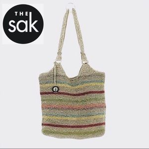 The Sak Crochet Multicolor Stripe Tote Bag
